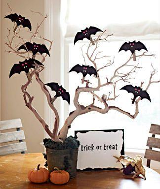 Murciélagos de papel para Halloween para imprimir1