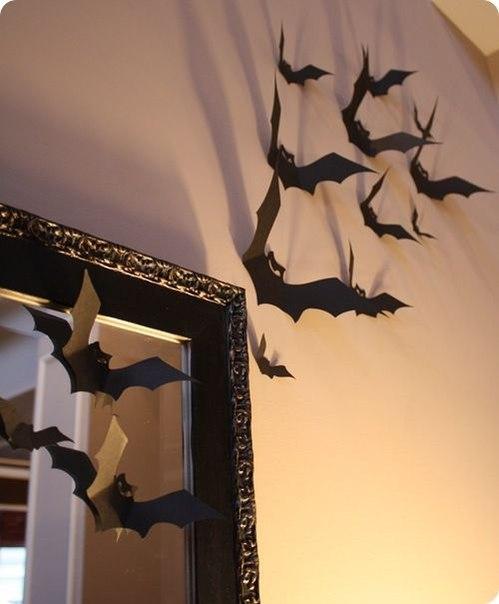 Murciélagos de papel para Halloween para imprimir5