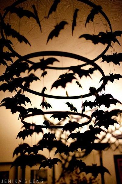 Murciélagos de papel para Halloween para imprimir6