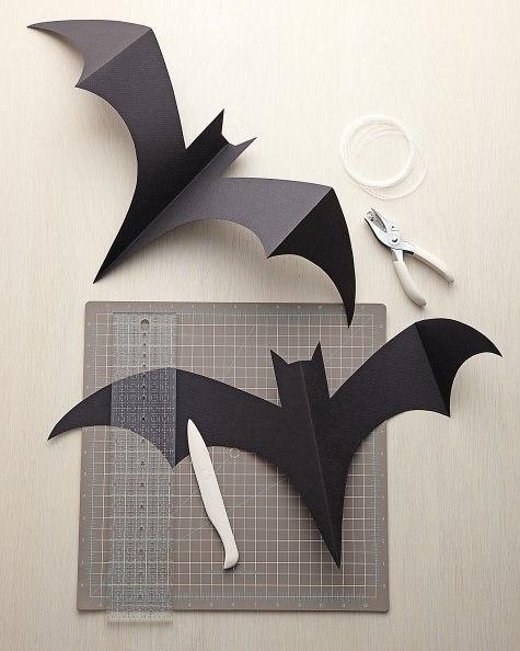Murciélagos de papel para Halloween para imprimir7