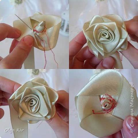 Paso a paso para hacer flores con listones10