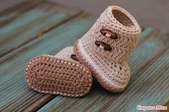 Patron botines tejidos a crochet para bebe07