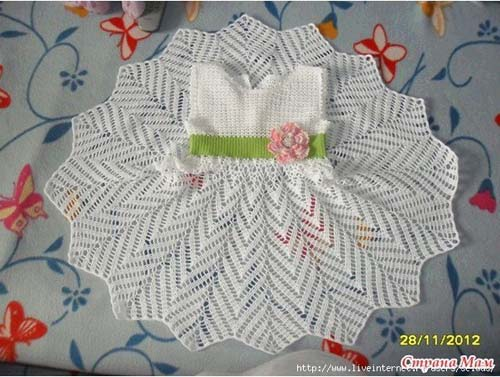 4eef83155 Patron gratis para hacer un vestido a crochet para niña