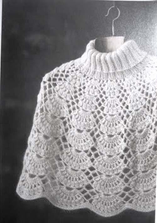 Patron para hacer poncho tejido a crochet gratis03