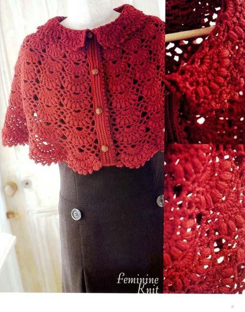 Patron para hacer poncho tejido a crochet gratis06