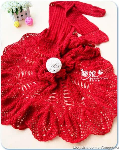 Patron para hacer un chal tejido a crochet para invierno06