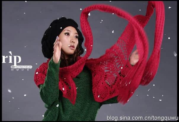 Patron para hacer un chal tejido a crochet para invierno07