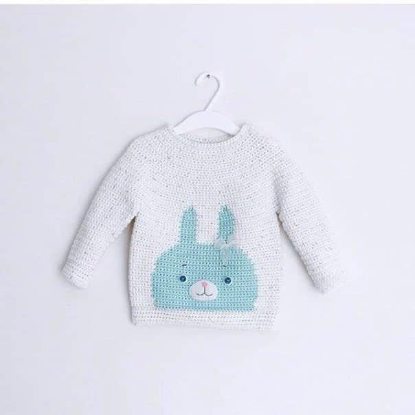 Patron para hacer un sueter tejido a crochet para bebe05