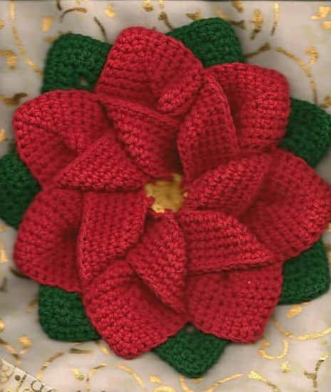 Patron para hacer una flor de noche buena a crochet07