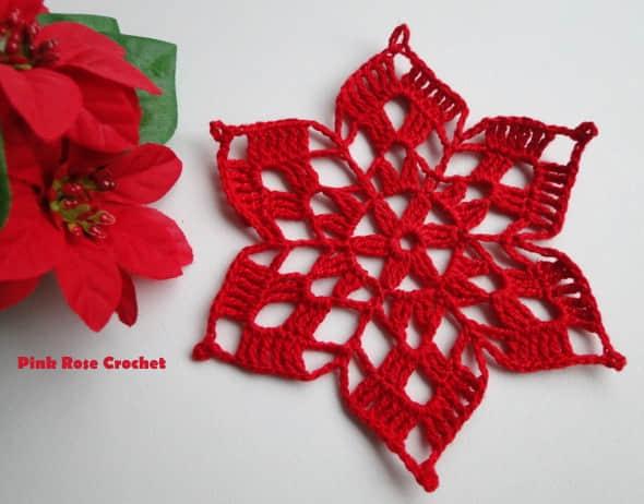 Patron para hacer una flor de noche buena a crochet10