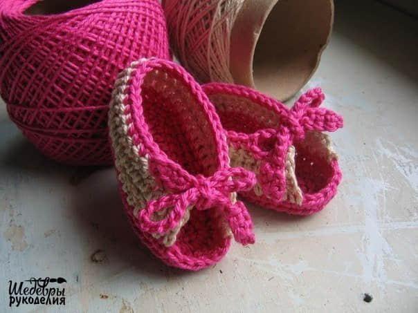 Patron zapatitos a crochet para bebe gratis01