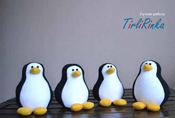 Patrones de pinguinos navideños con fieltro04