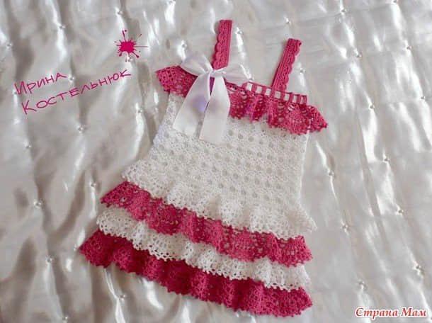 moldes de Lindos Vestiditos a Crochet con Esquemas gratis05