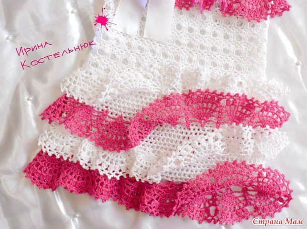 moldes de Lindos Vestiditos a Crochet con Esquemas gratis10