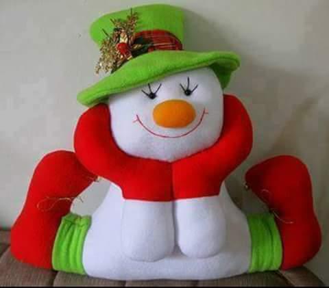 moldes para hacer muñecos de nieve en fieltro