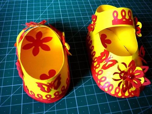 Modelos para hacer zapatitos con papel