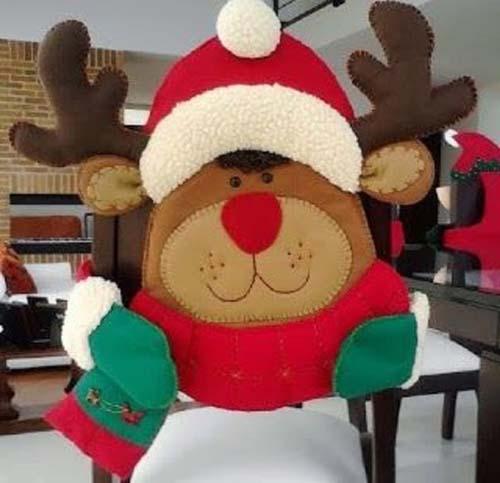 ideas para hacer cubresillas navideas de fieltro