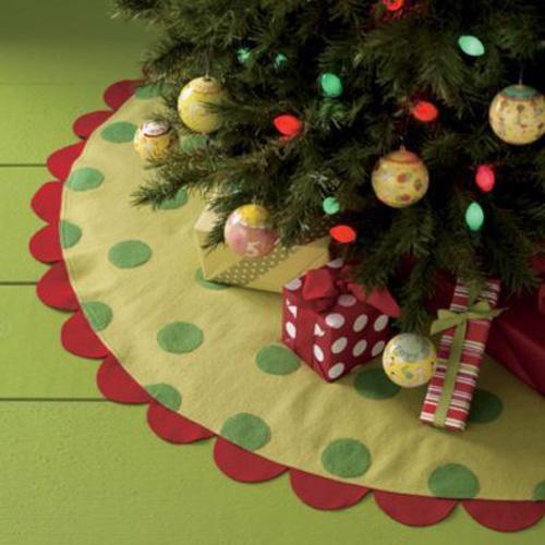 15 ideas para hacer un pie de arbol navideño06