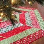 15 ideas para hacer un pie de arbol navideño10