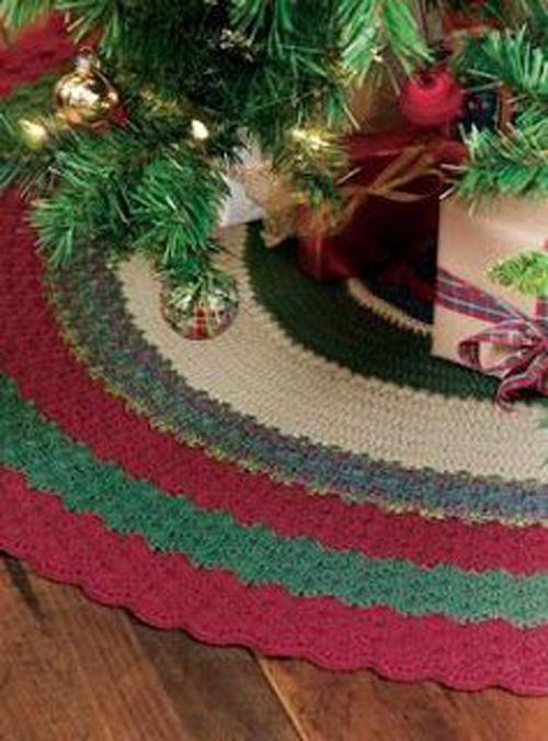 20 ideas Pie de arbol navideño tejido a crochet10