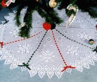 20 ideas; Pie de arbol navideño tejido a crochet