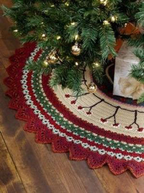 20 Ideas Pie De Arbol Navide 241 O Tejido A Crochet 20 Ideas
