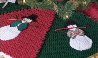 20 ideas Pie de arbol navideño tejido a crochet14
