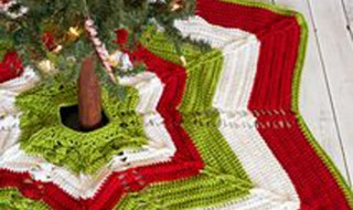 20 ideas Pie de arbol navideño tejido a crochet16