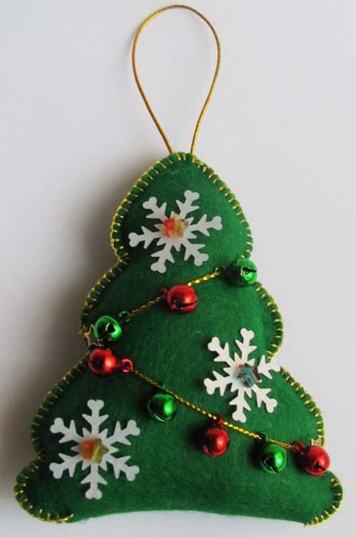 Moldes para hacer arbolitos de navidad en fieltro - Arbol de navidad de fieltro ...