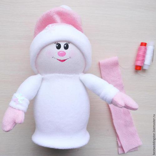Como hacer un muñeco de nueve co botellas de plastico03