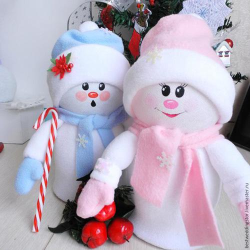 Como hacer un mu eco de nieve con botellas de plastico - Manualidades munecos de navidad ...