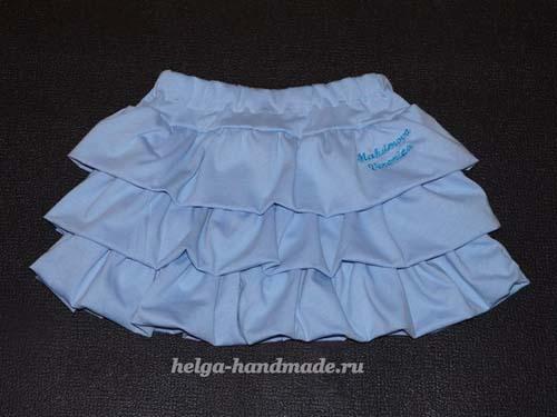 Como hacer una falda con olanes paso a paso05