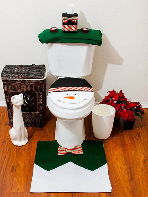 Decoración navideña para baños07