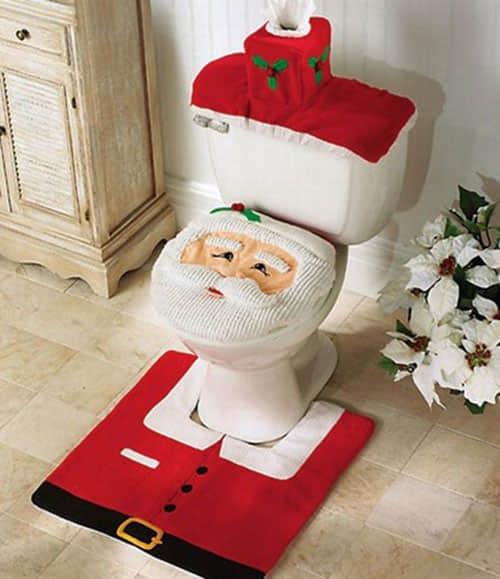 Decoración navideña para baños10