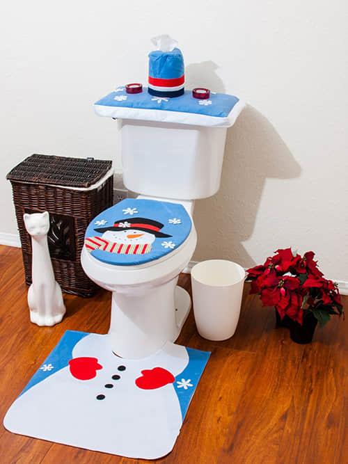 Decoración navideña para baños11