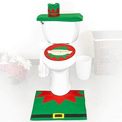 Decoración navideña para baños13