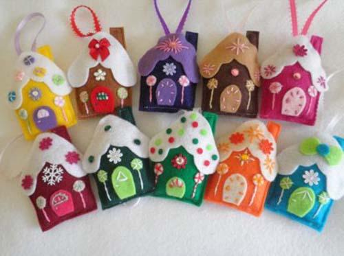 Figuras navideñas de fieltro para decorar arbol de navidad02