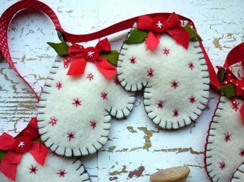 Figuras navideñas de fieltro para decorar arbol de navidad04