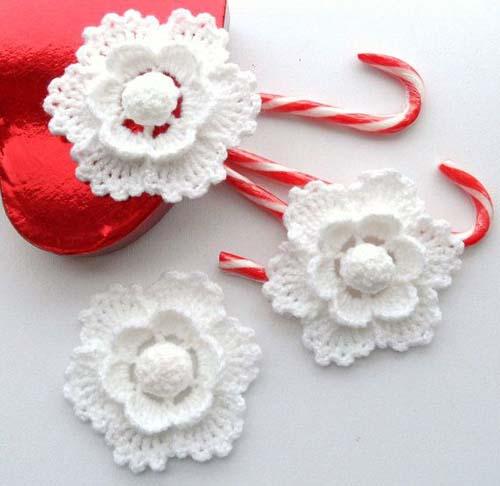 Crochet Xmas Flower Pattern : Figuras navidenas tejidas a crochet