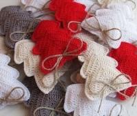 Figuras navideñas tejidas a crochet