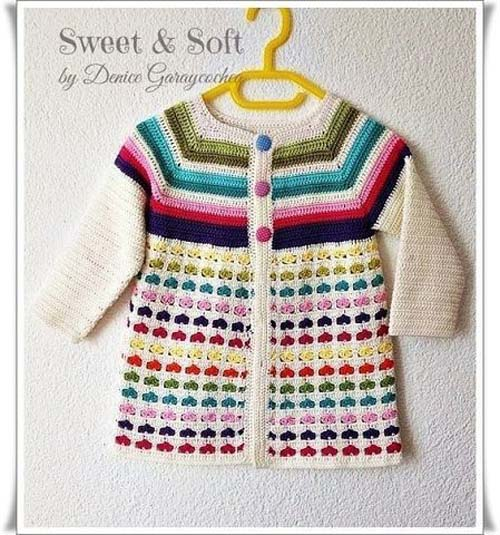 Free Crochet Sweater Patterns for Children03
