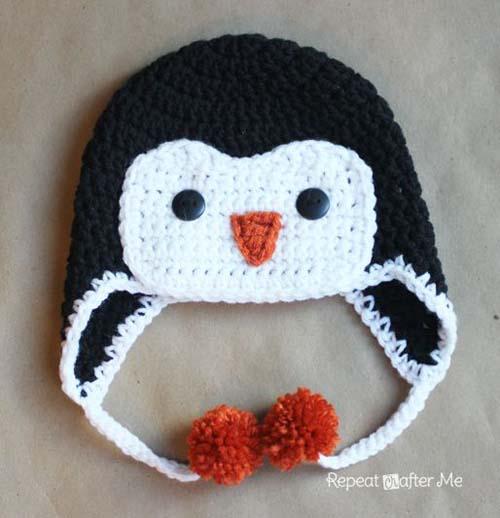 Gorros navideños tejidos a crochet par niños02