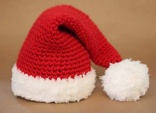 Gorros navideños tejidos a crochet par niños05