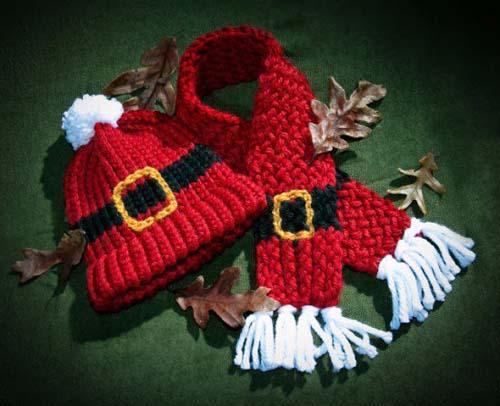 Gorros navideños tejidos a crochet par niños07