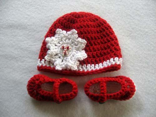 Gorros navideños tejidos a crochet par niños08