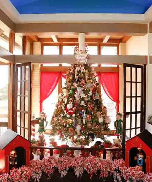 Ideas para decorar arbol navideño con peluches01