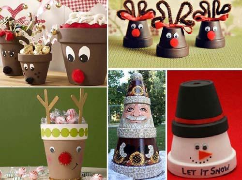 Ideas para decorar macetas en navidad03