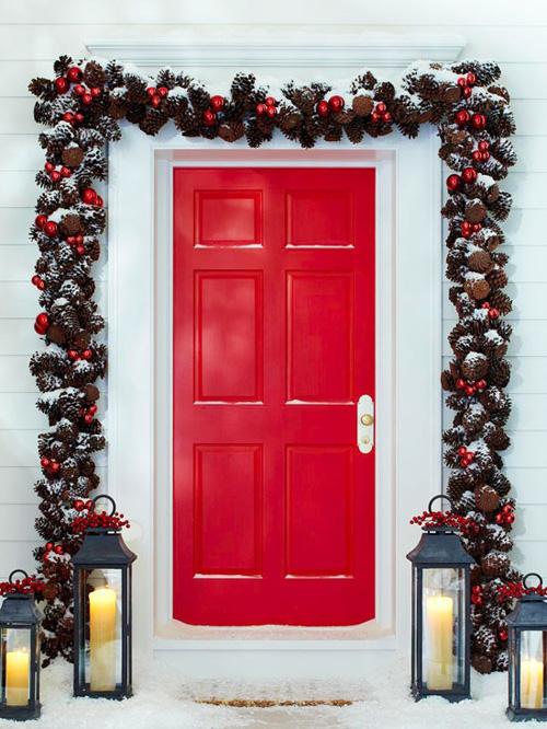 Ideas para decorar puertas en navidad07