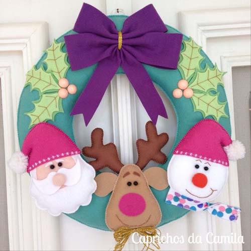 Modelos de coronas navideñas para puertas02