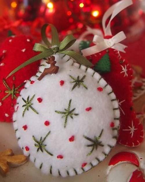 Molde para hacer esferas navideñas de fieltro06